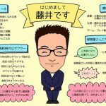 保険屋さんの藤井さんの自己紹介シートを作らせていただきました!