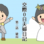 【マンガ】交際0日夫婦日記 第二話「破局」