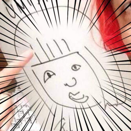 デッカチャンに描いてもらったおかっぱミユキの似顔絵