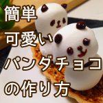 【200円+税】簡単可愛いパンダチョコの作り方!