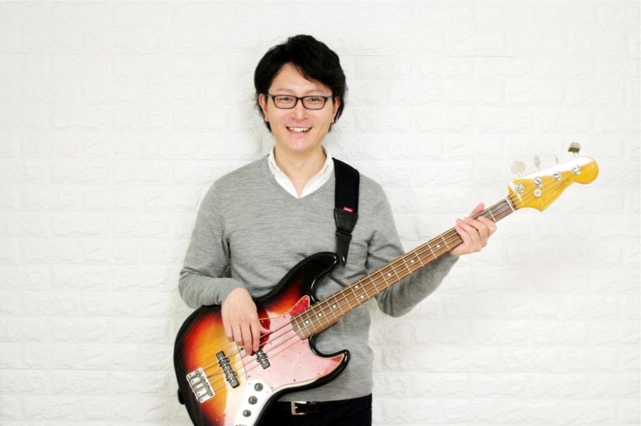 エレキベース講師のシェイド砂川敦氏のプロフィール写真